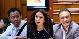 Kenji Fujimori - Cecilia Chacón - Héctor Becerril - Foto: Congreso